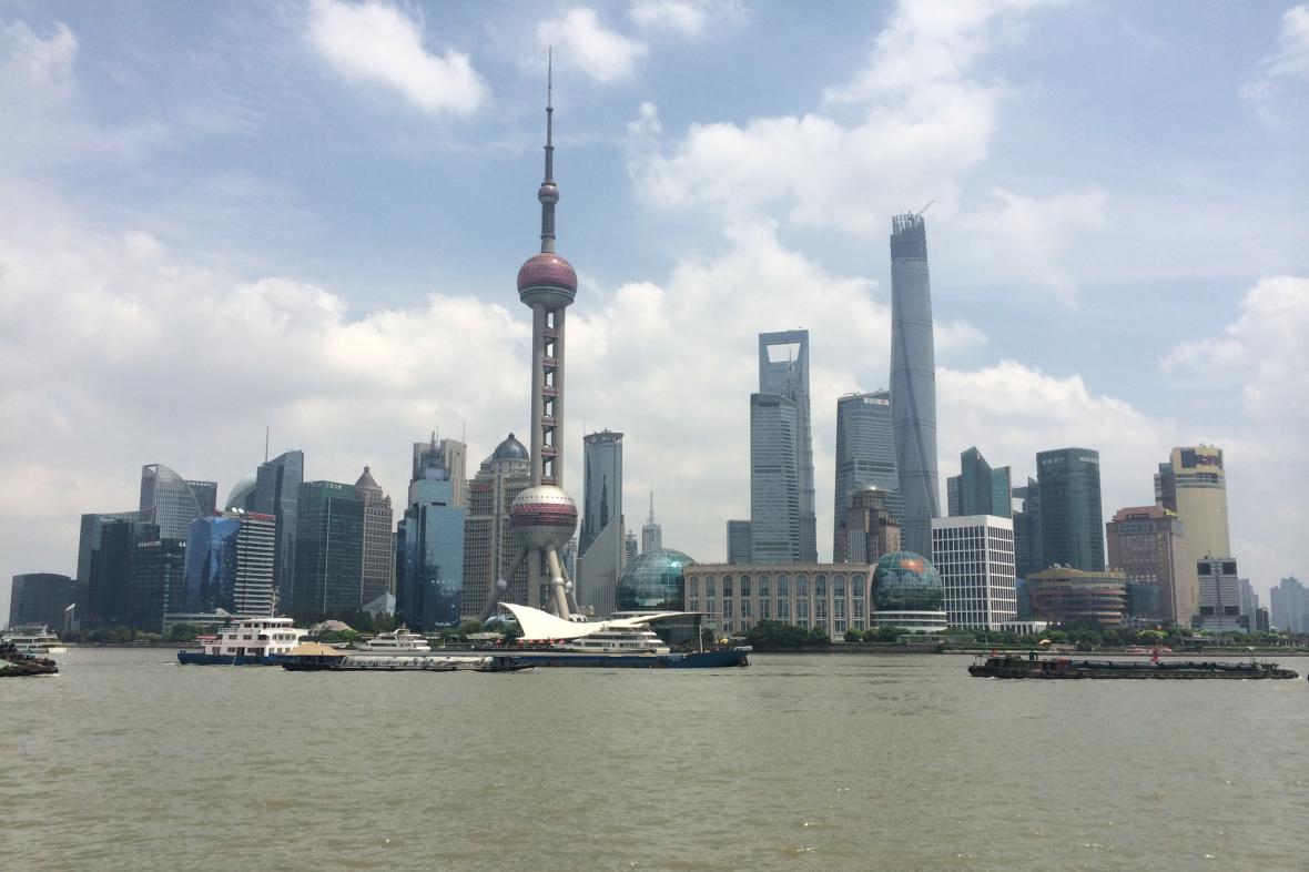 Panorama Šanghaje s proslulým
