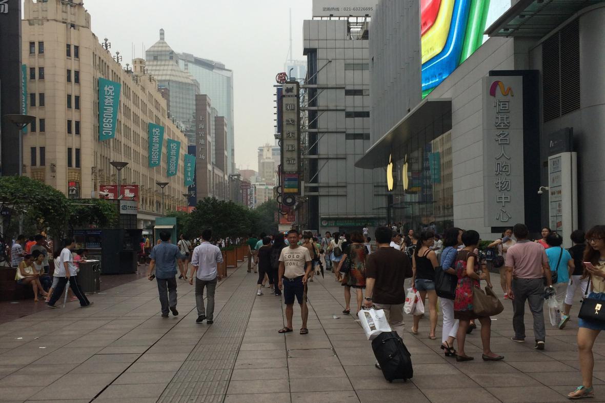 Centrum Šanghaje je velice rušné