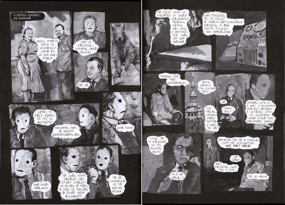 Komiks Jak Gottwald zavraždil Slánského