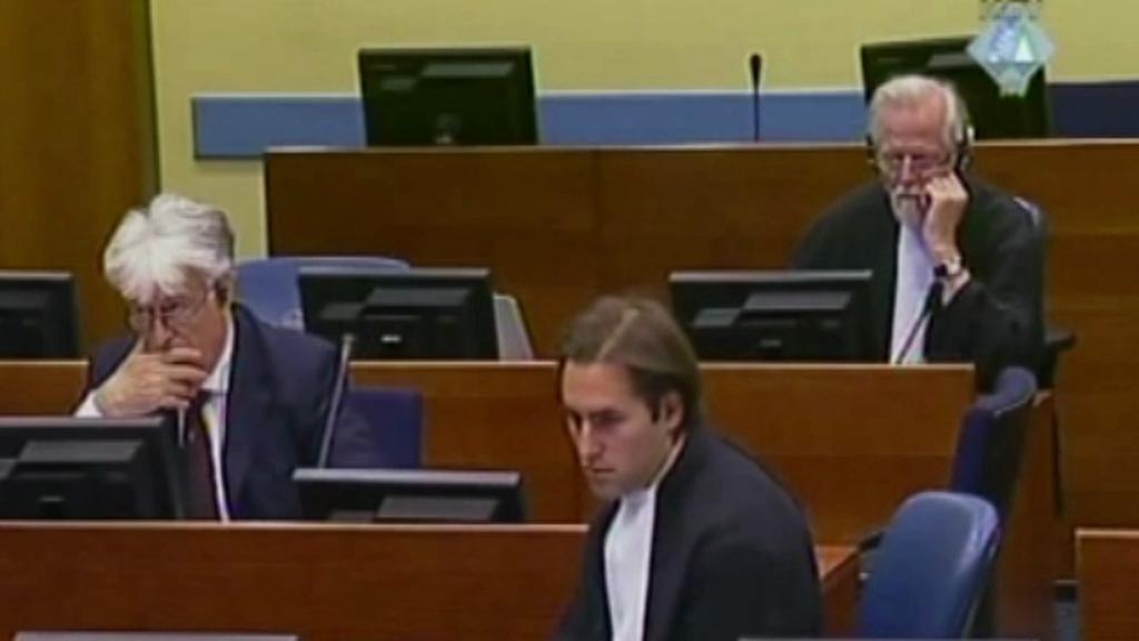 Sladojević v roli obhájce, Karadžić jako jeho klient