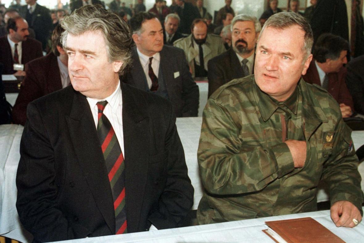 Svého času dva nejhledanější muži Evropy - Karadžić a Mladić