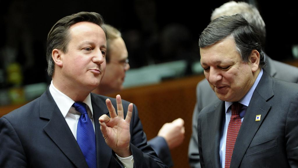 David Cameron a José Manuel Barroso