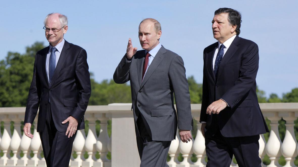 Herman van Rompuy, Vladimir Putin, José Manuel Barroso