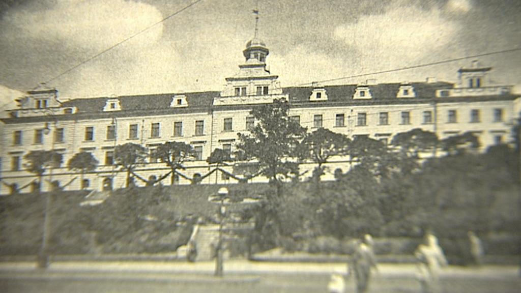Vršovický zámeček na archivní fotografii