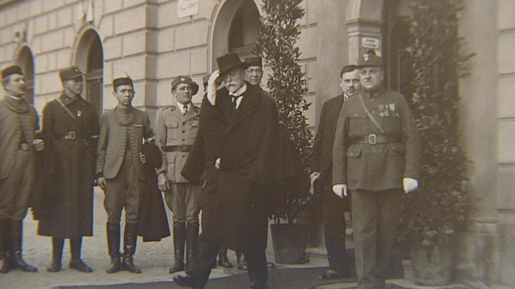 T. G. Masaryk ve Vršovickém zámečku