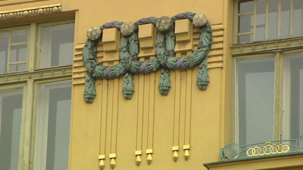 Detail z exteriéru hotelu Šroubek - Evropa