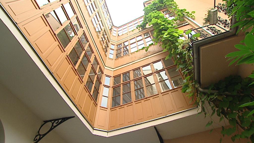 Dvorek domu v Petrské ulici