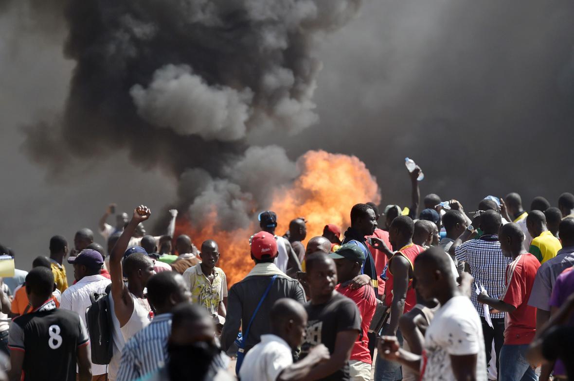 Nepokoje v Burkina Fasu
