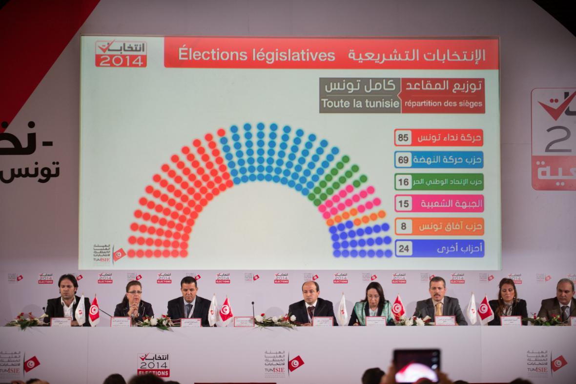 Úřad ISIE oznamuje konečné výsledky parlametních voleb v Tunisku