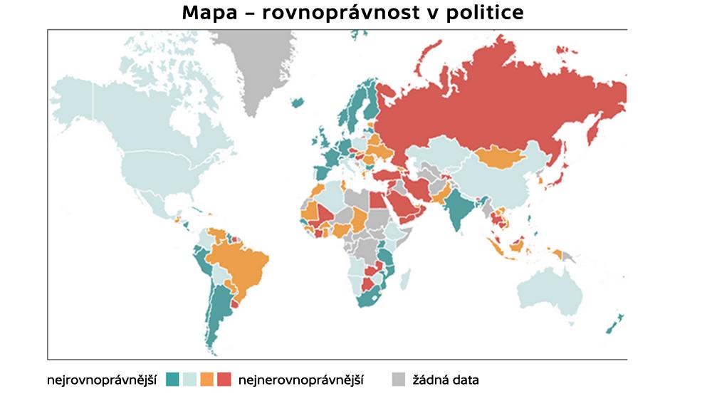 Mapa – rovnoprávnost v politice