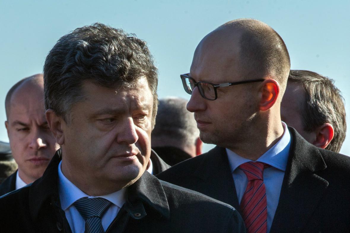 Petro Porošenko a Arsenij Jaceňuk