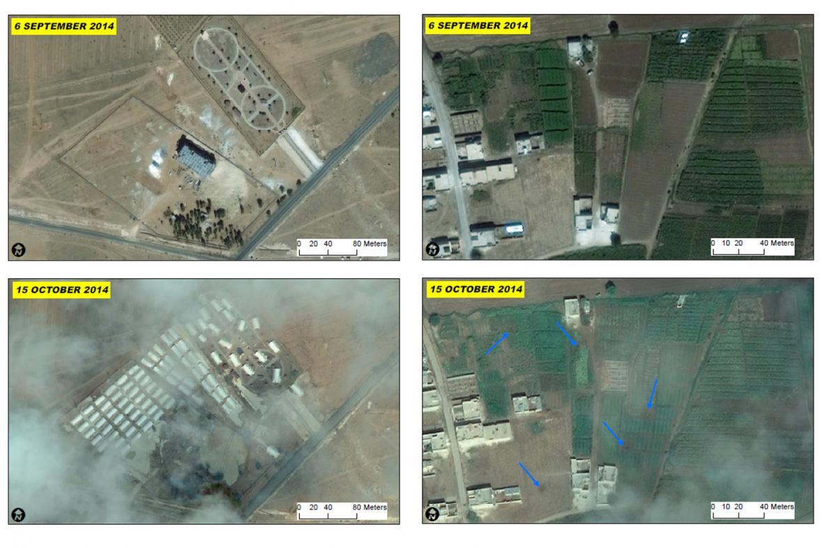 Kobani před boji a po nich
