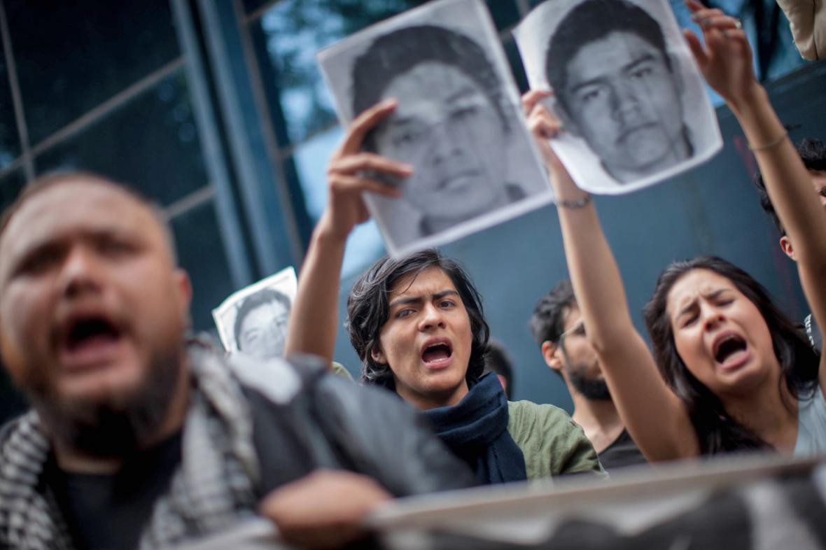 Demonstrace za pohřešované mexické studenty