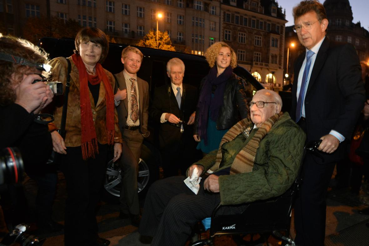 Sir Winton navštívil hotel Evropa na Václavském náměstí