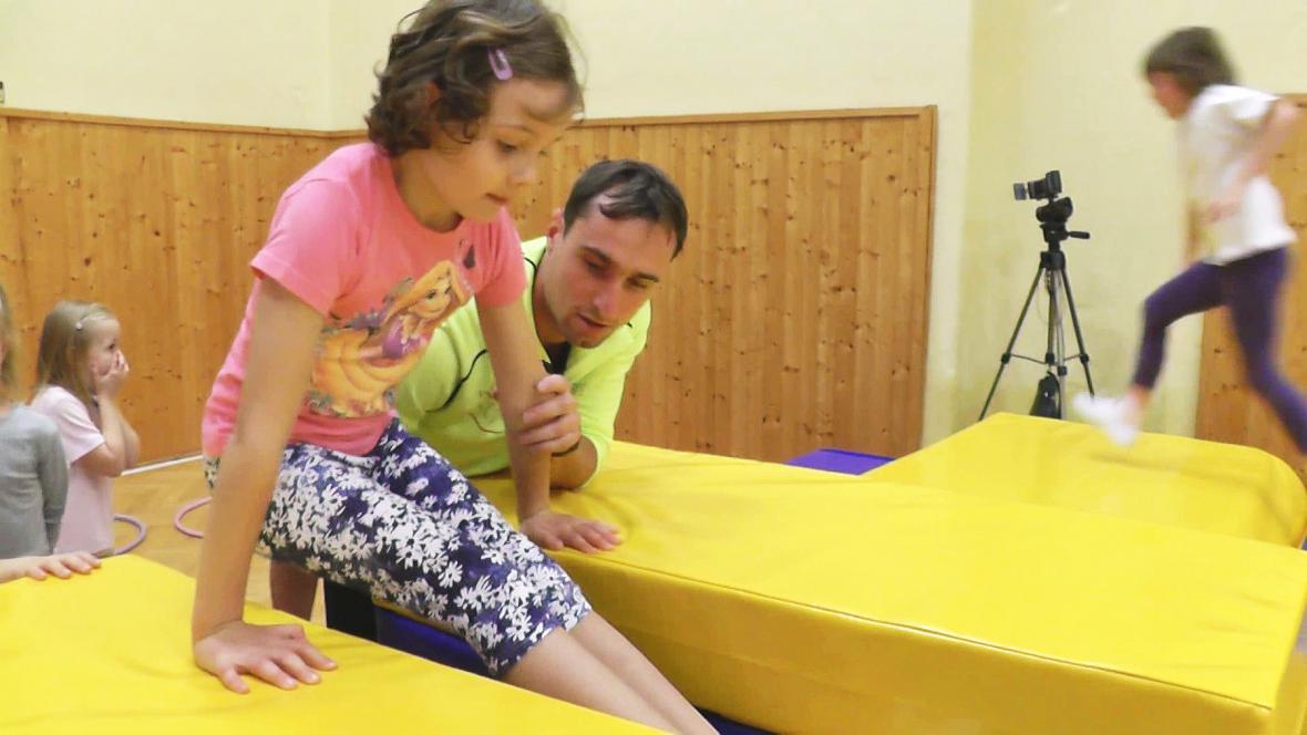 Gymnastické cvičení pro děti v Boskovicích