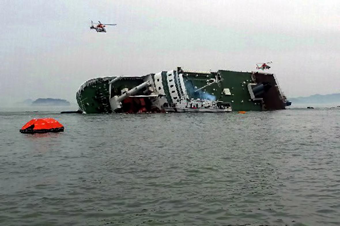 Potopený korejský trajekt