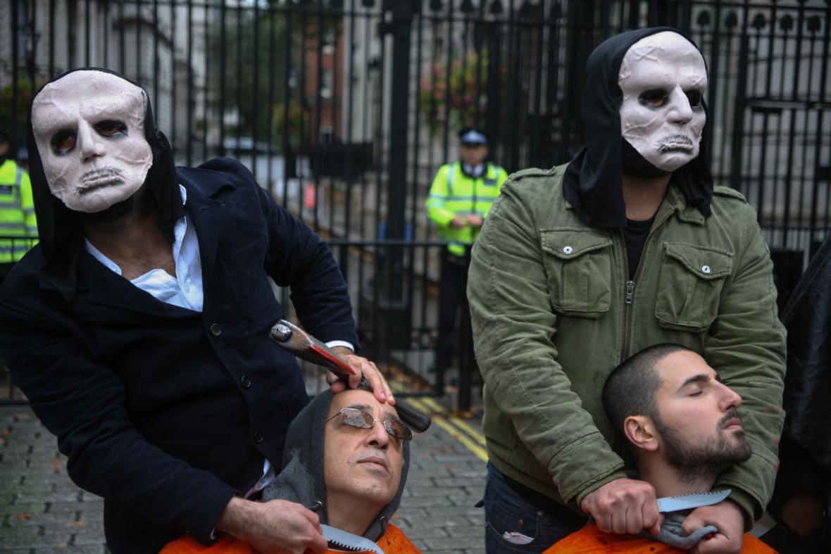Protesty Kurdů v Londýně