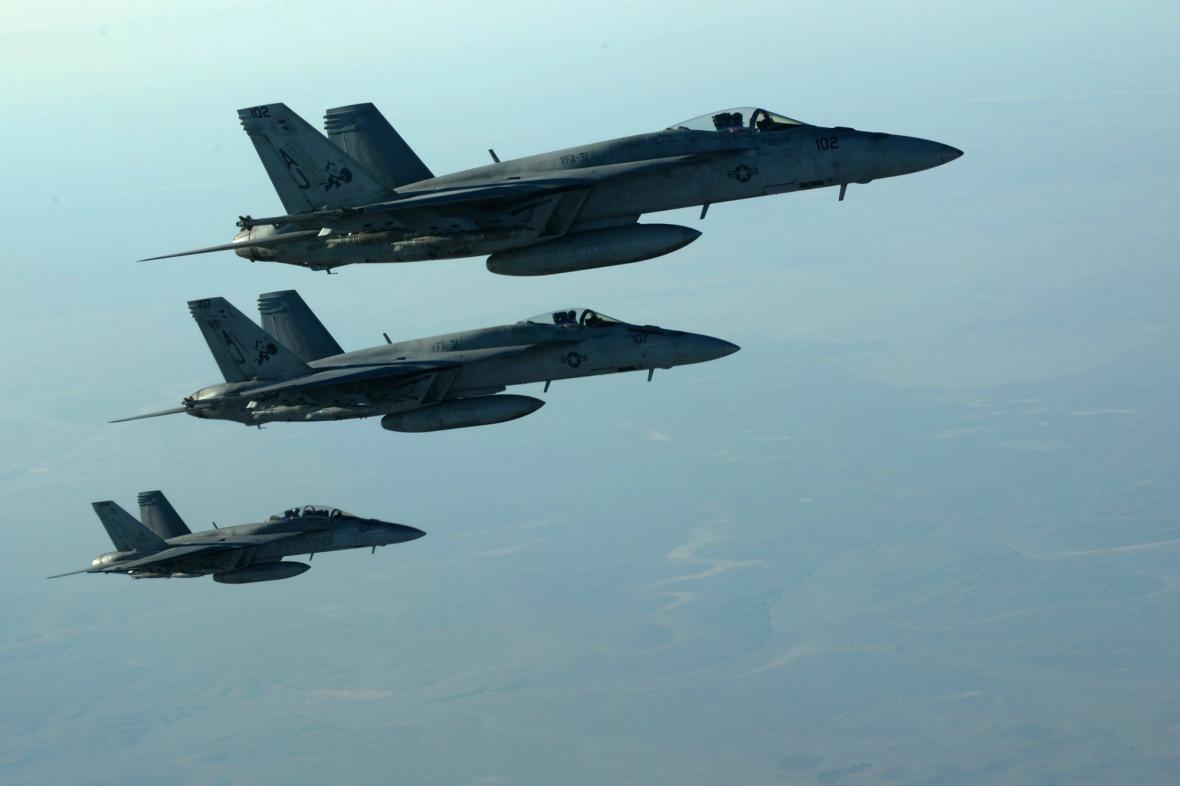 Útoky USA na pozice islamistů v Sýrii