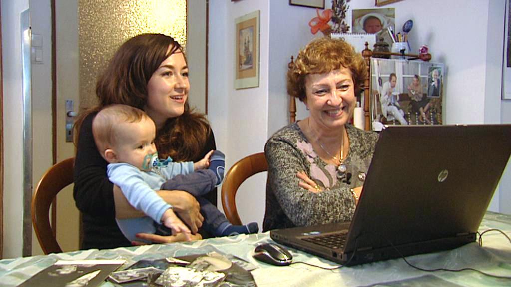 Kristýna Ostratická a Dana Kalinová - pravnučka a vnučka Vítězslava Knejfla