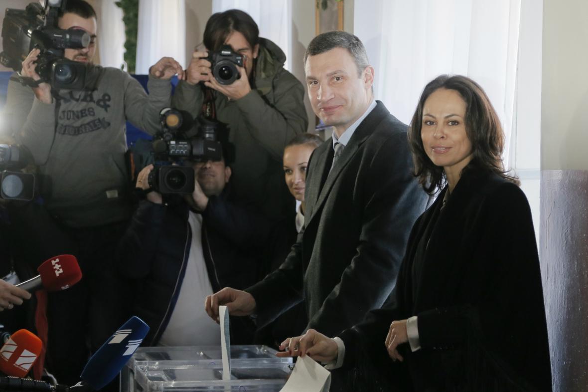 Vitalij Kličko u volební urny