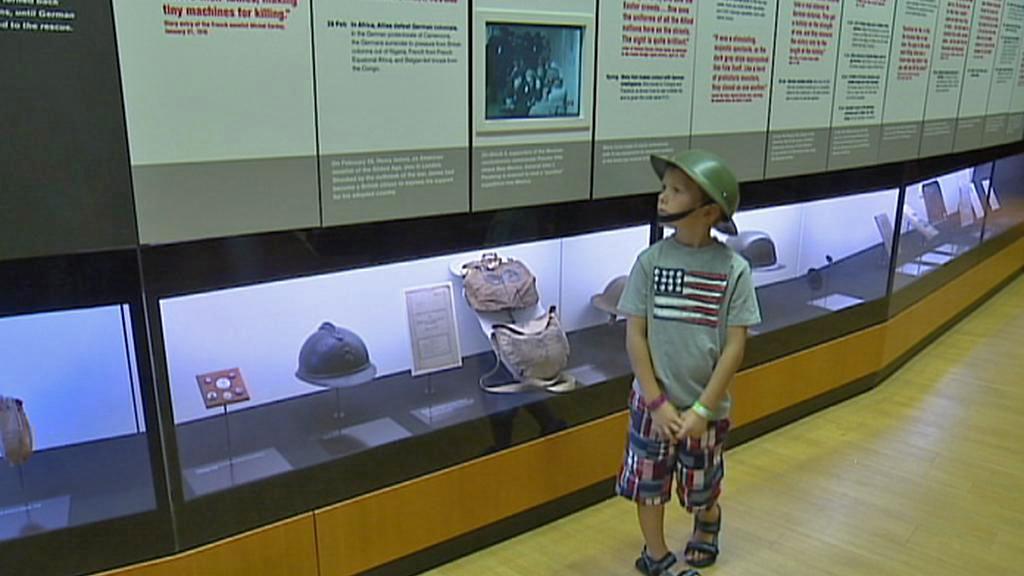 Exponáty kansaského muzea první světové války