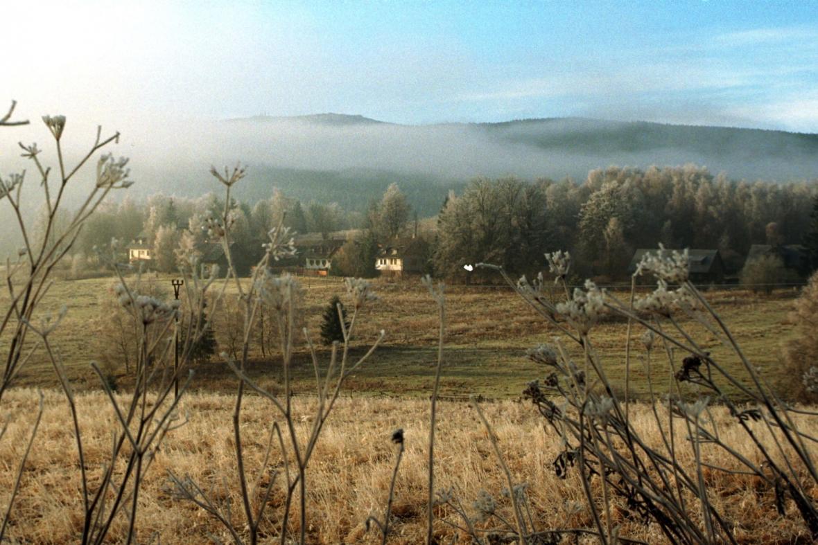 Ranní mráz na Šumavě