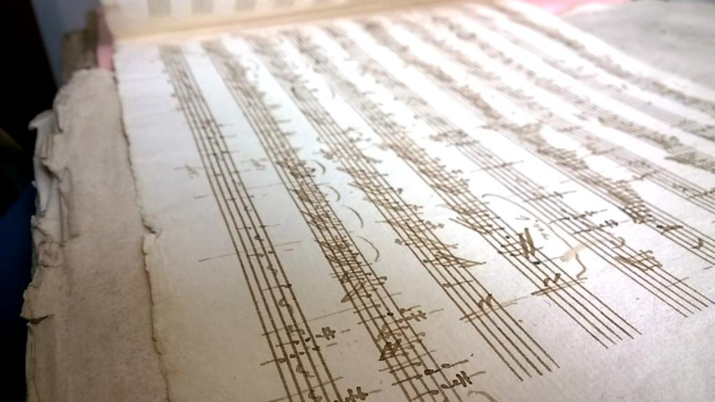 Údajný Mozartův rukopis Sonáty č. 11