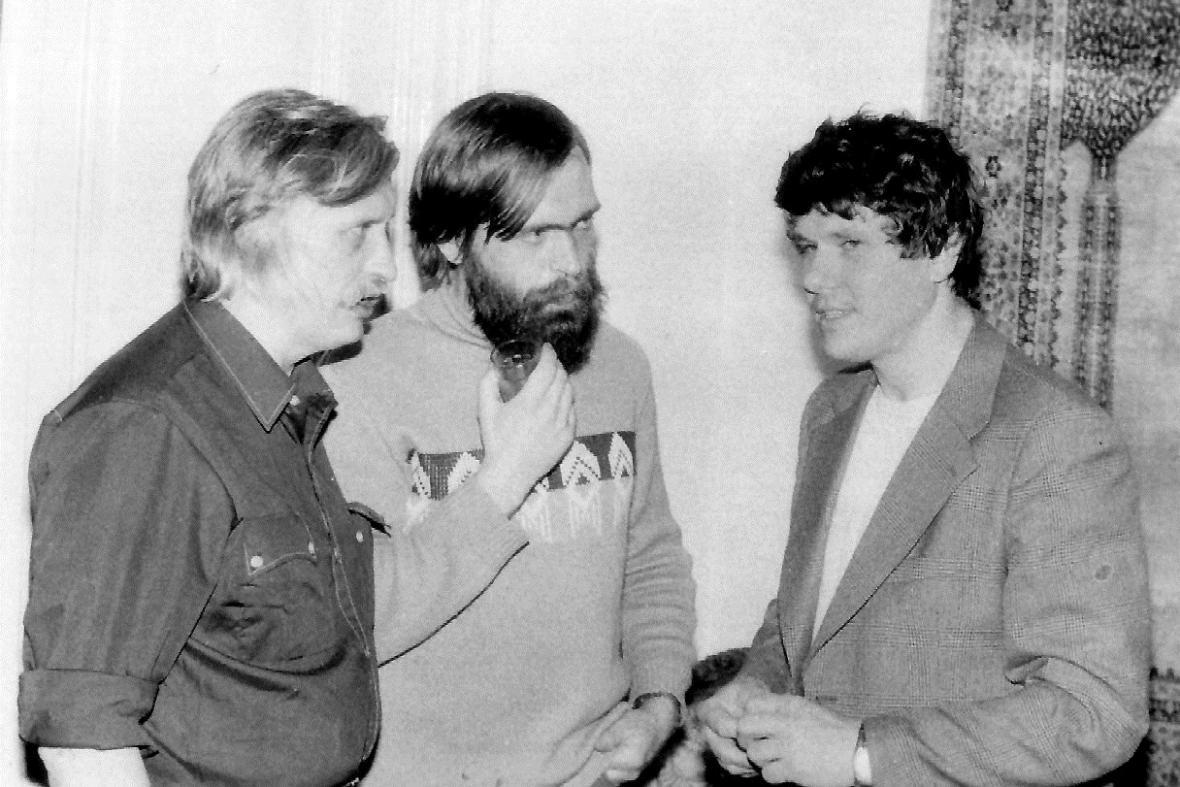 Setkání chartistů Jiřího Dienstbiera, Jiřího Gruntoráda a Václava Malého