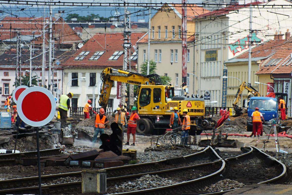 Rekonstrukce viaduktu na Křenové