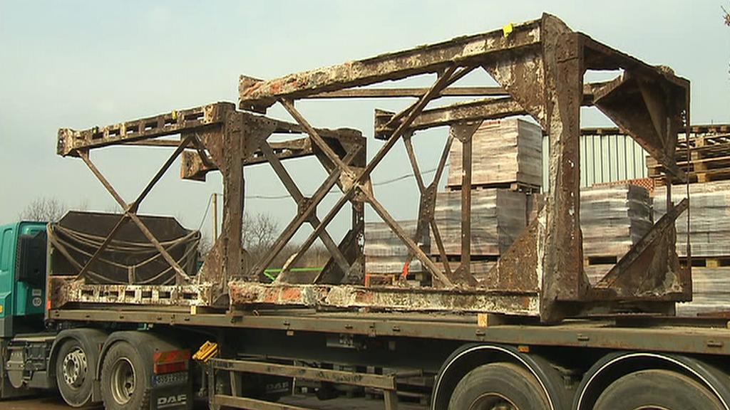 Konstrukce mýtného domku z Čechova mostu