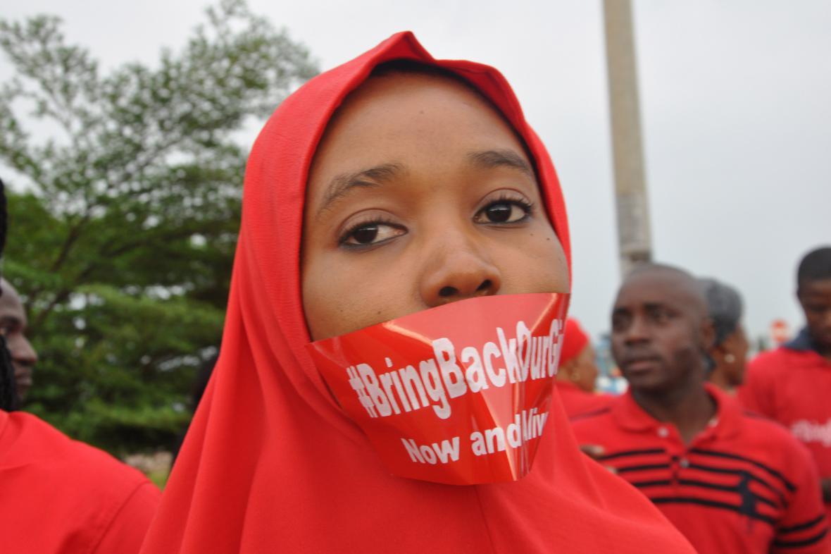 Protesty proti únosu školaček islamisty z Boko Haram