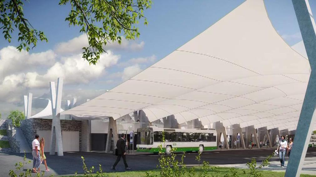 Návrh střechy dopravního terminálu
