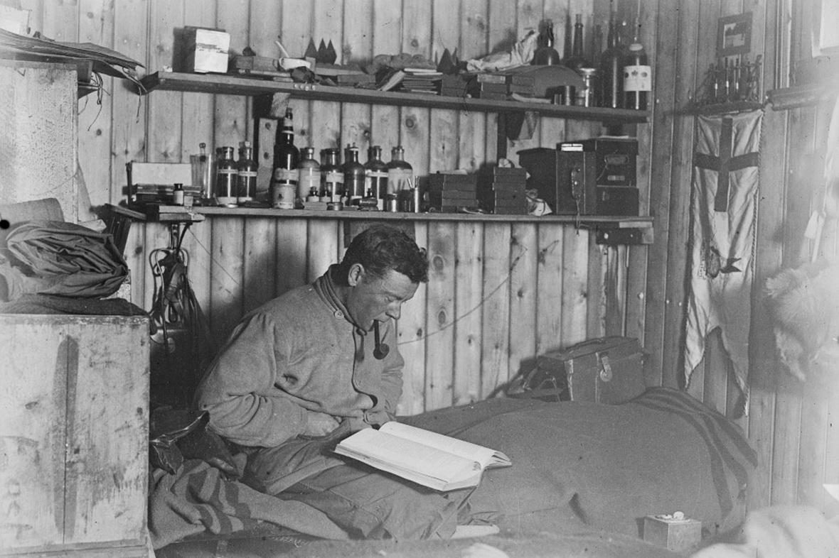 George Murray Levick během výpravy v Antarktidě