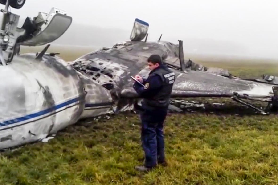 Nehoda letounu šéfa Totalu na Vnukovu
