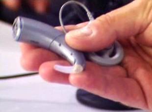 Vnější část kochleárního implantátu