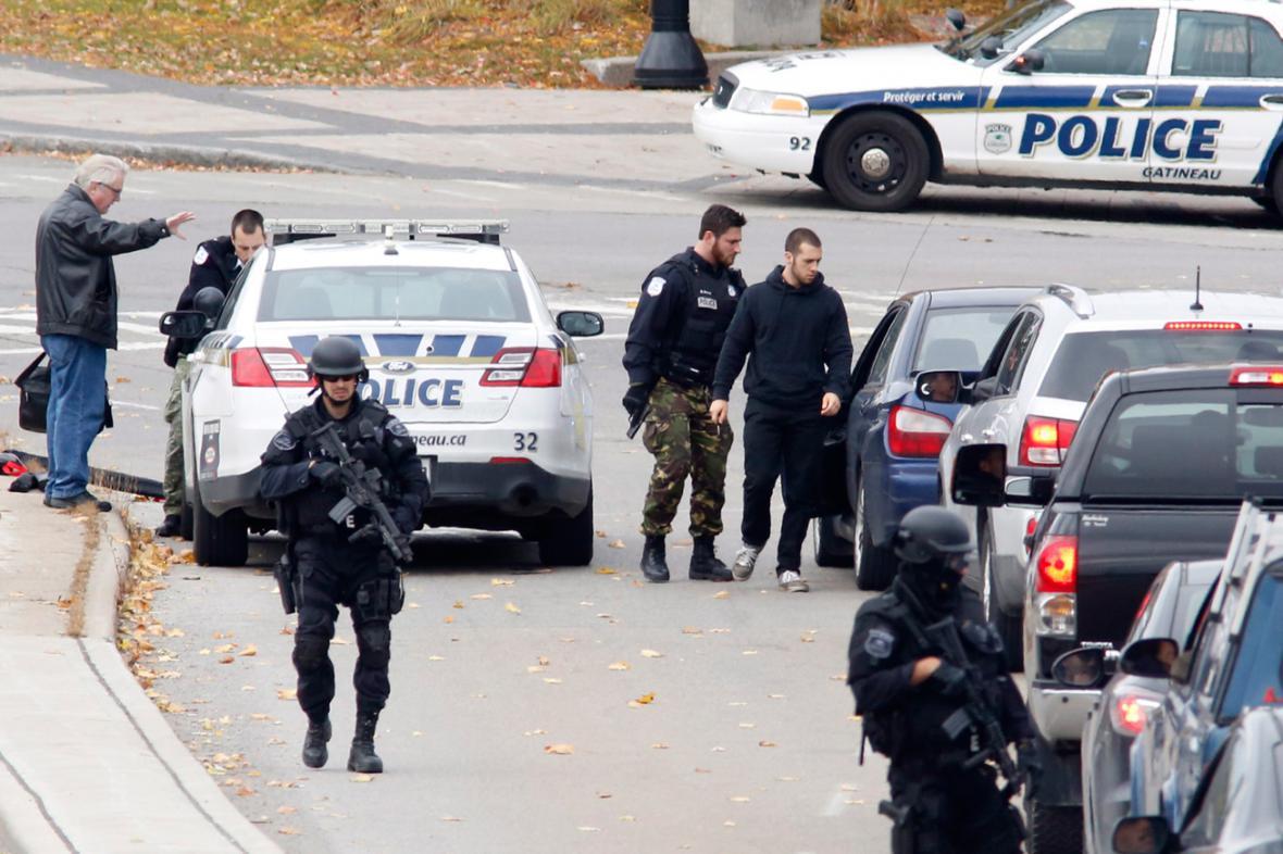 Kanadské policejní kontroly po střelbě v Ottawě