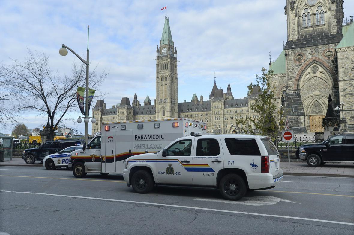 Střelba v centru Ottawy