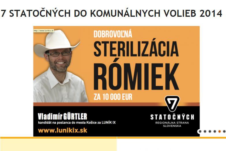 Předvolební plakát Vladimíra Gürtlera