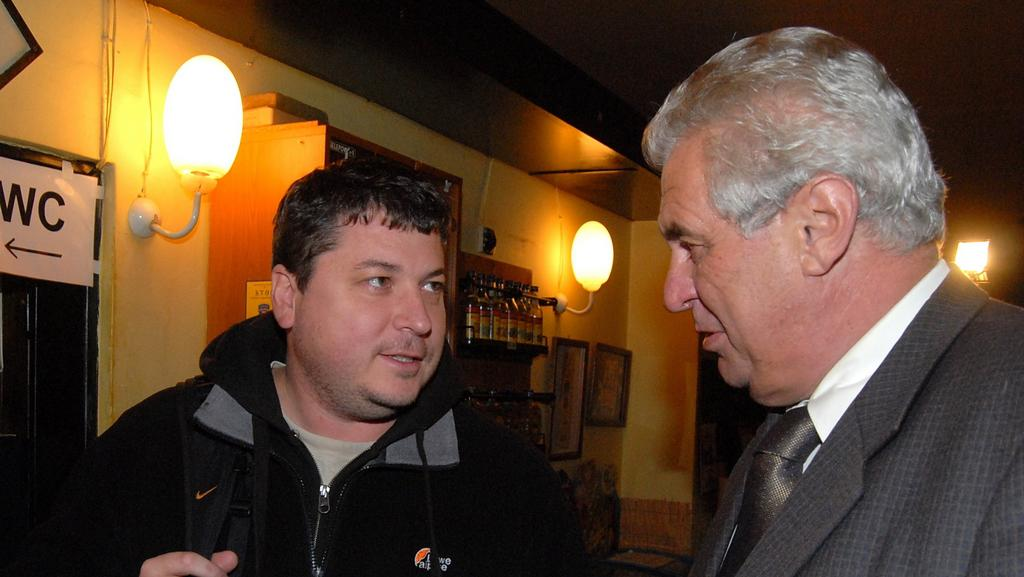 Robert Sedláček a Miloš Zeman
