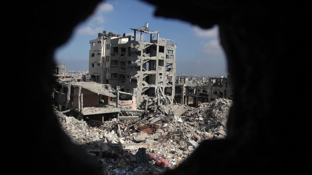 Následky ostřelování v Gaze