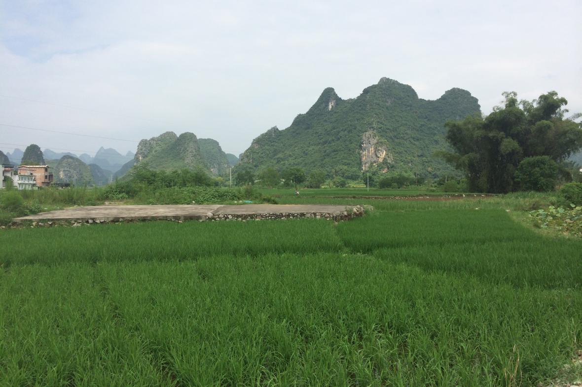Venkovská krajina v jihovýchodní Číně