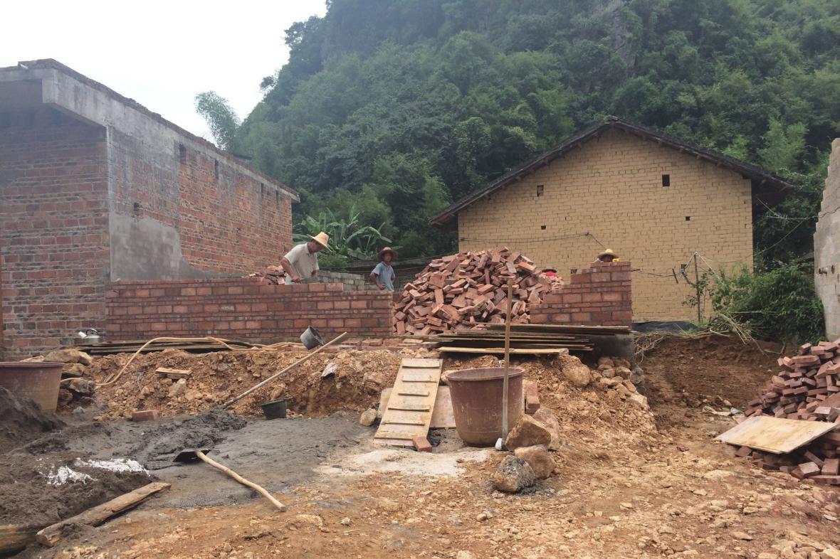 Nová výstavba mění tvář čínských vesnic