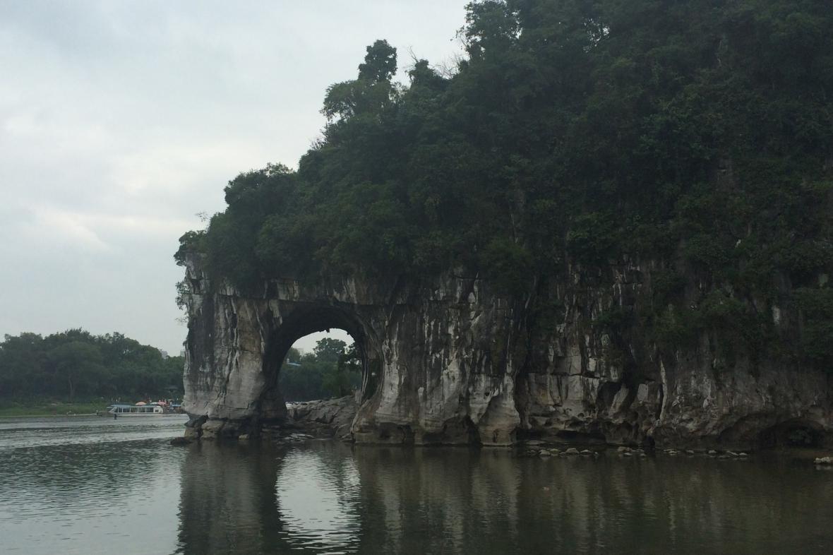 Skála sloního chobotu v Kchuej-linu