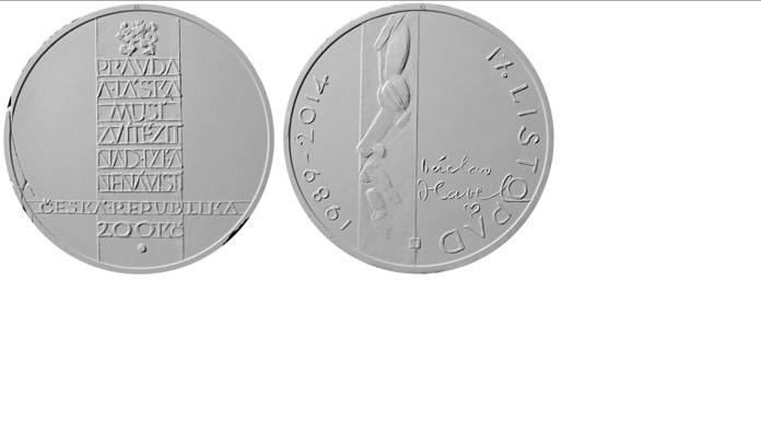 Návrh na pamětní medaili s Václavem Havlem k výročí sametové revoluce