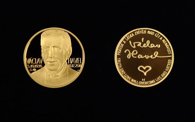 Pamětní medaile s Václavem Havlem byla vyražena už v roce 2012