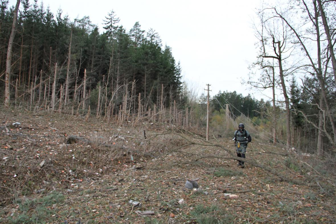 Místo výbuch muničního skladu