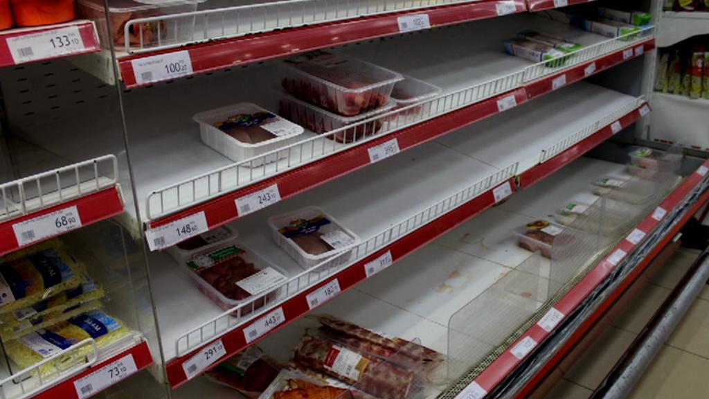 Prázdné regály v Rusku