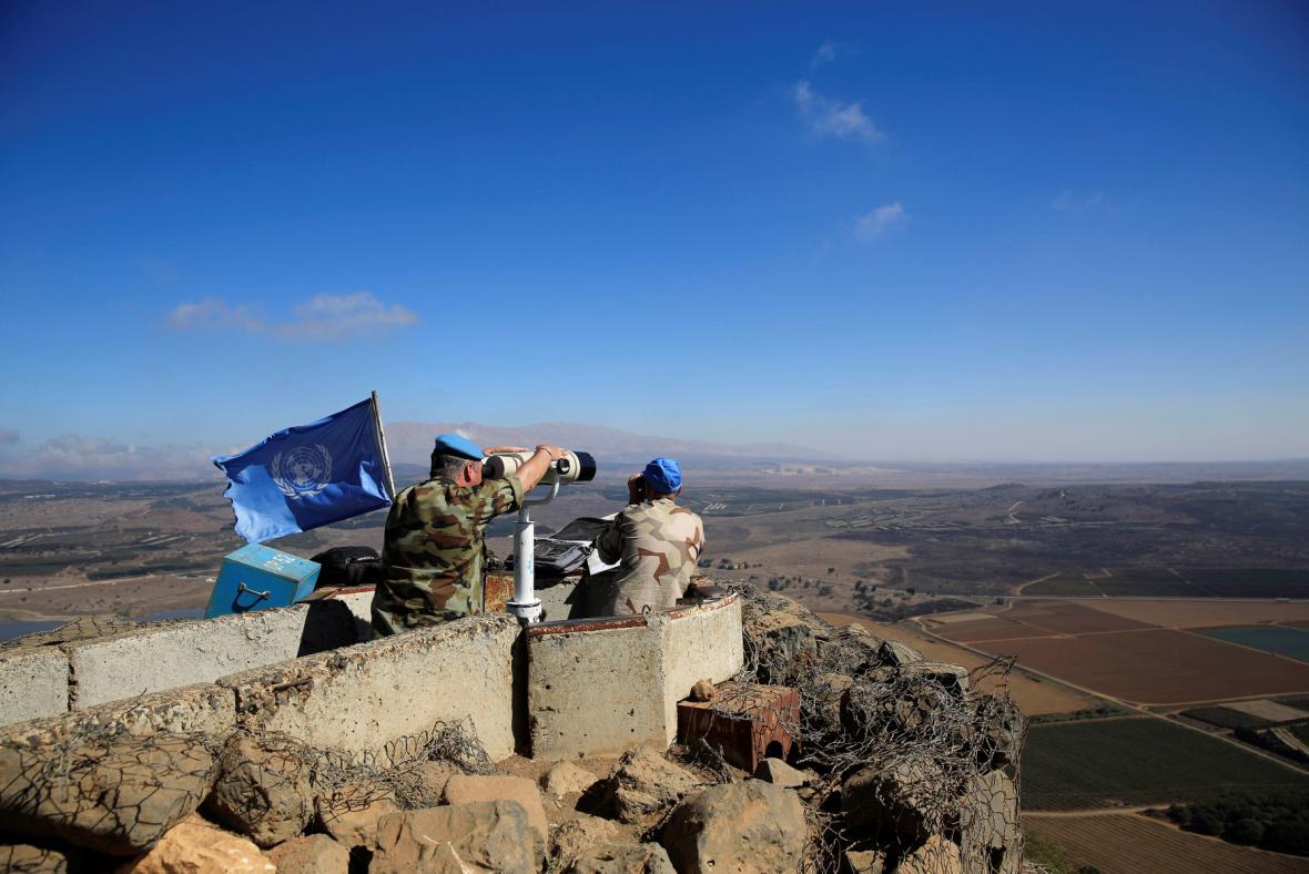Vojáci OSN na Golanských výšinách