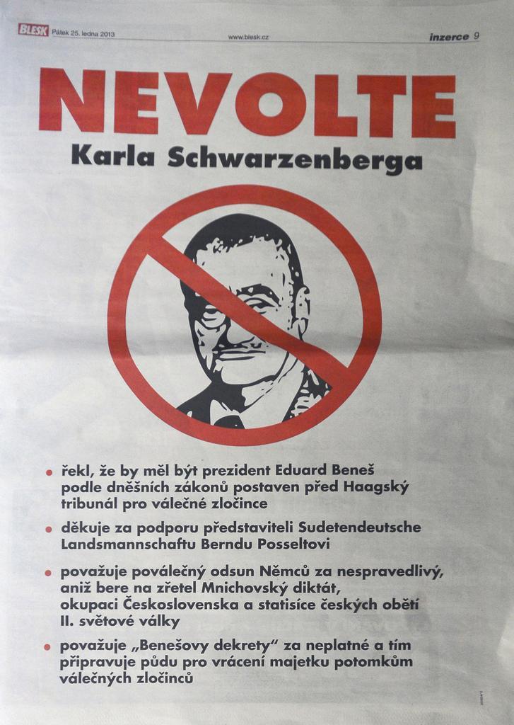 Obsah inzerátu Nevolte Schwarzenberga