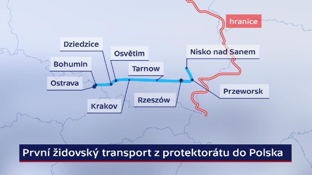 První židovský transport z protektorátu do Polska